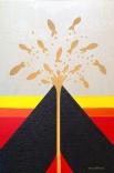 cm.40x60 - acrylic and golden leaf on canvas