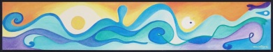 The Wave - l'Onda - cm.26x100 - black frame